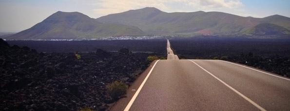 Las carreteras en Lanzarote